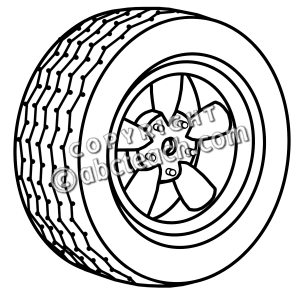 300x300 Tire Clipart Black And White