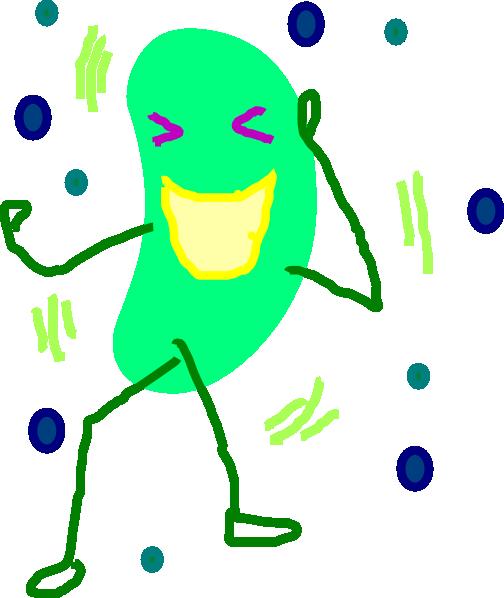 504x598 Green Jelly Bean Laugh Clip Art