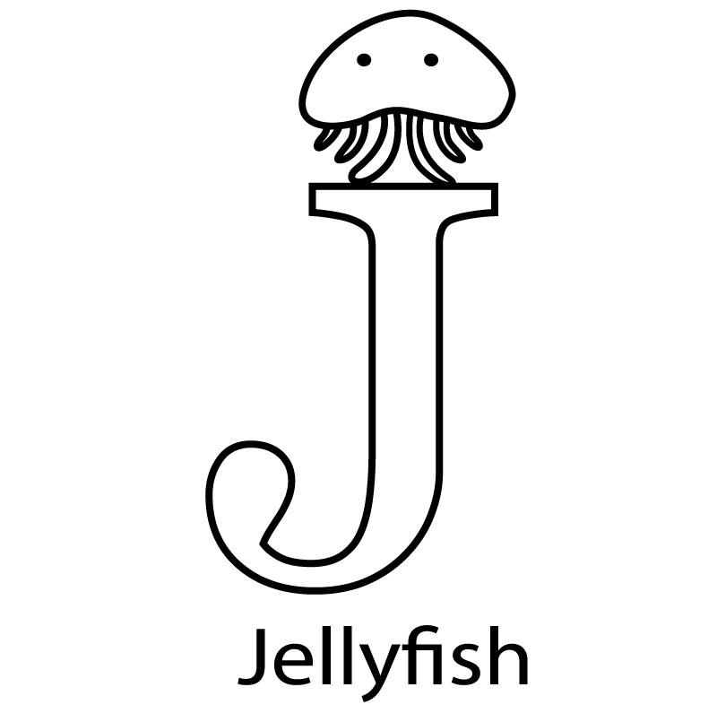800x805 Jellyfish Alphabet Coloring Page Alphabet Coloring Pages