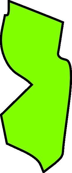246x588 Green New Jersey Map Clipart