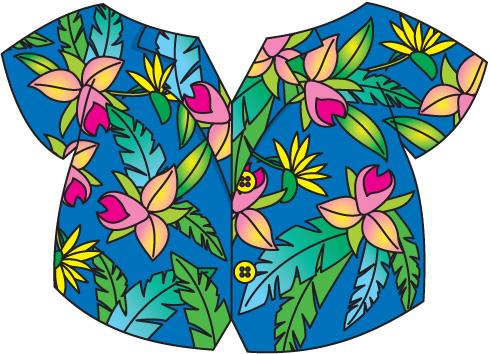 490x354 Hawaiian Shirt Clip Art