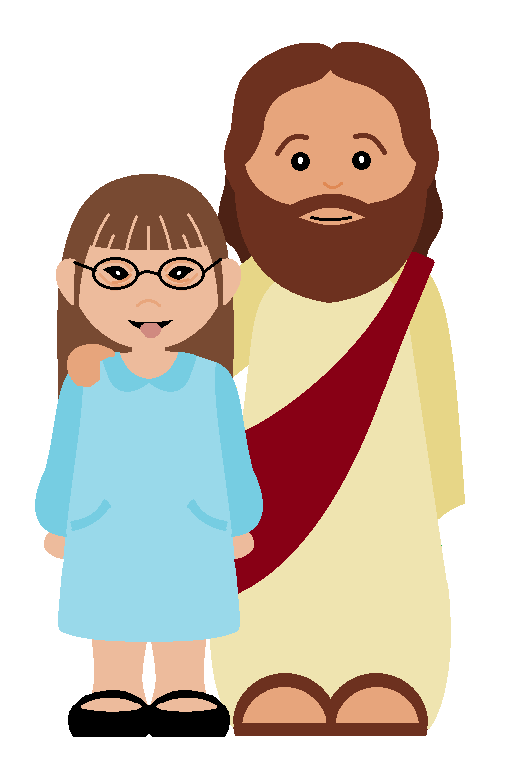517x771 Walking With Jesus Clipart