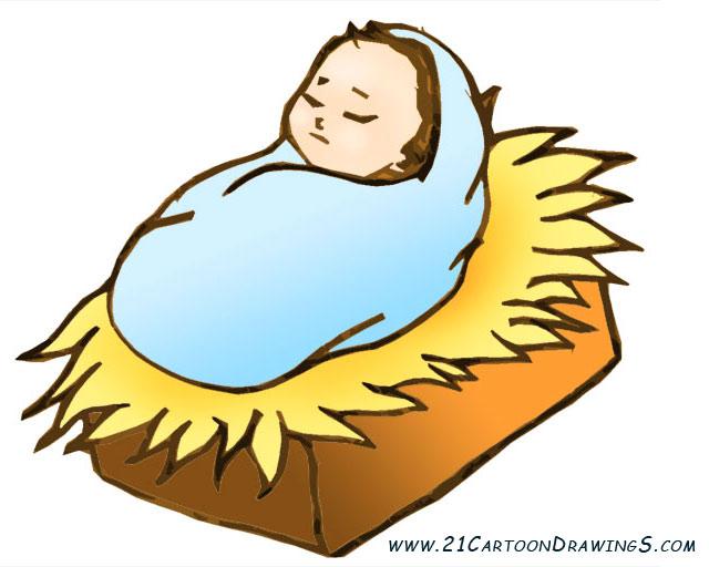 640x512 Baby Jesus Clipart