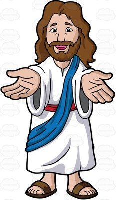 Jesus And The Children Clipart