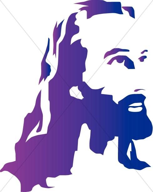 489x612 Jesus Silhouette Clipart