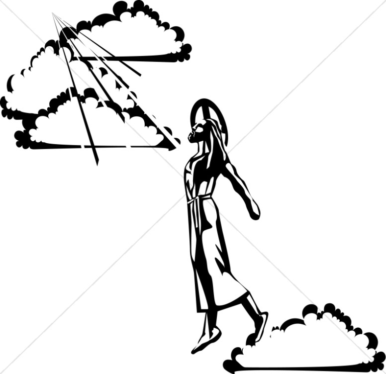 776x752 Jesus In The Clouds Christian Clipart Ascension Day Clipart