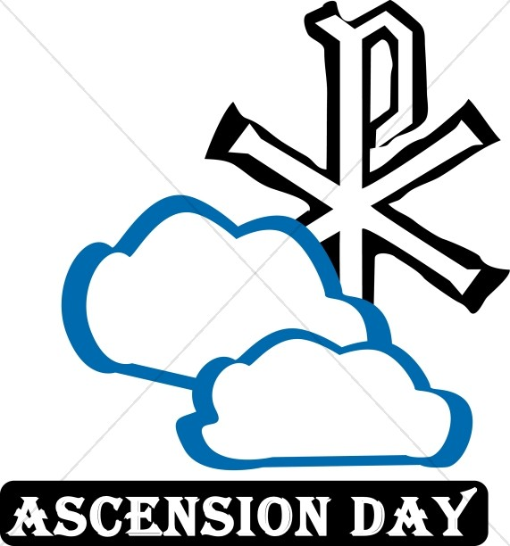 571x612 Religious Art Clipart Ascension Day Ascension Word Art
