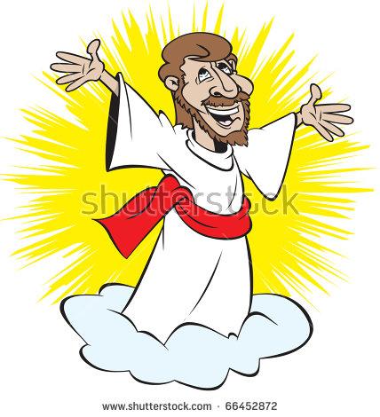 428x470 Clipart Jesus Returning