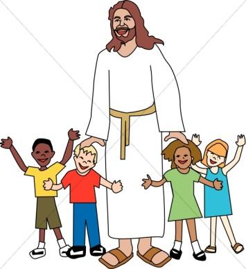 355x388 Top 84 Jesus Children Clip Art