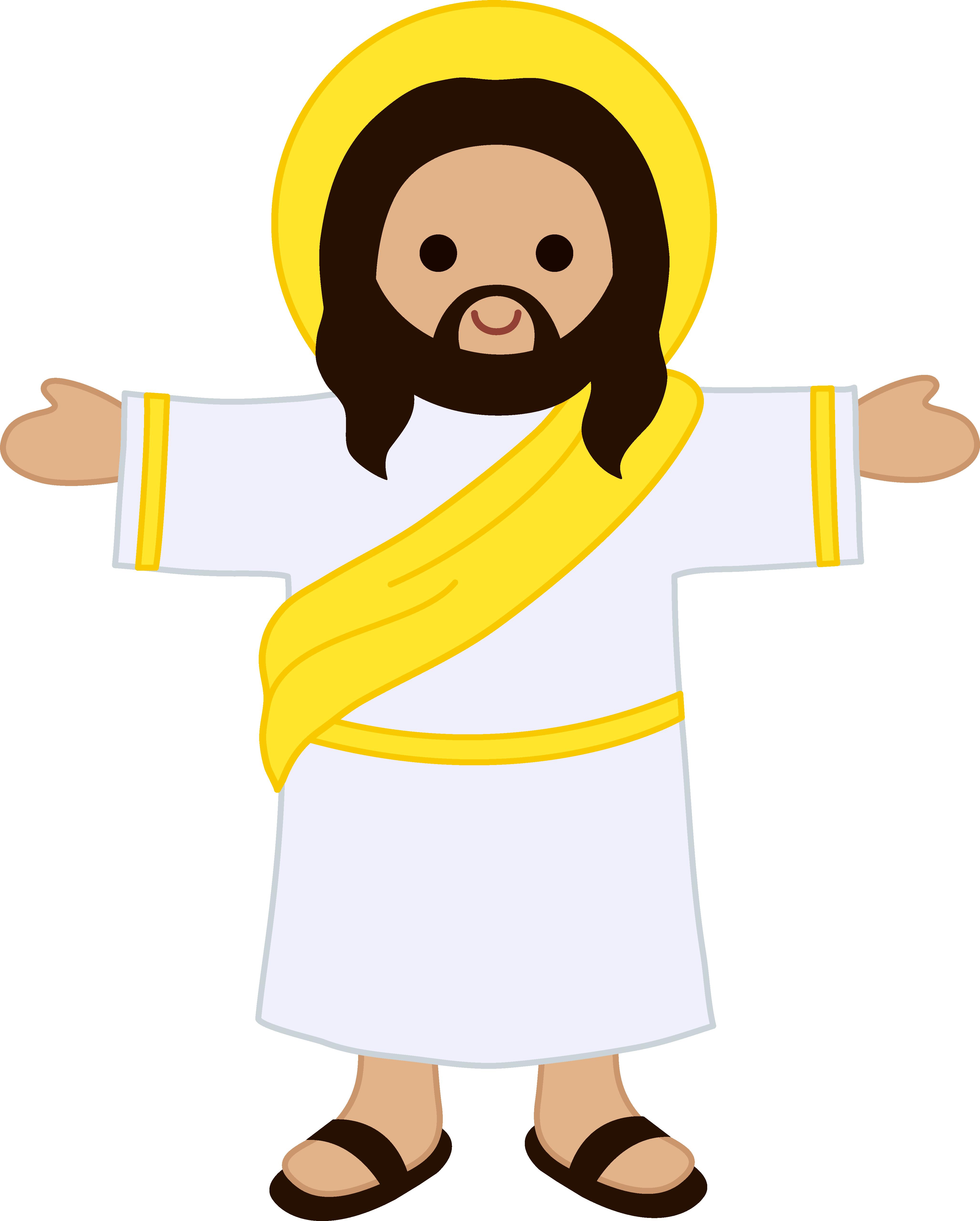 4110x5120 Cute Clip Art Of Jesus Christ