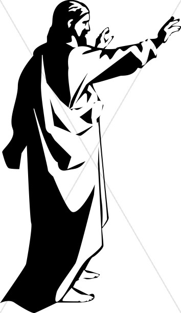 354x612 Christ Preaching To The Disciples Jesus Clipart