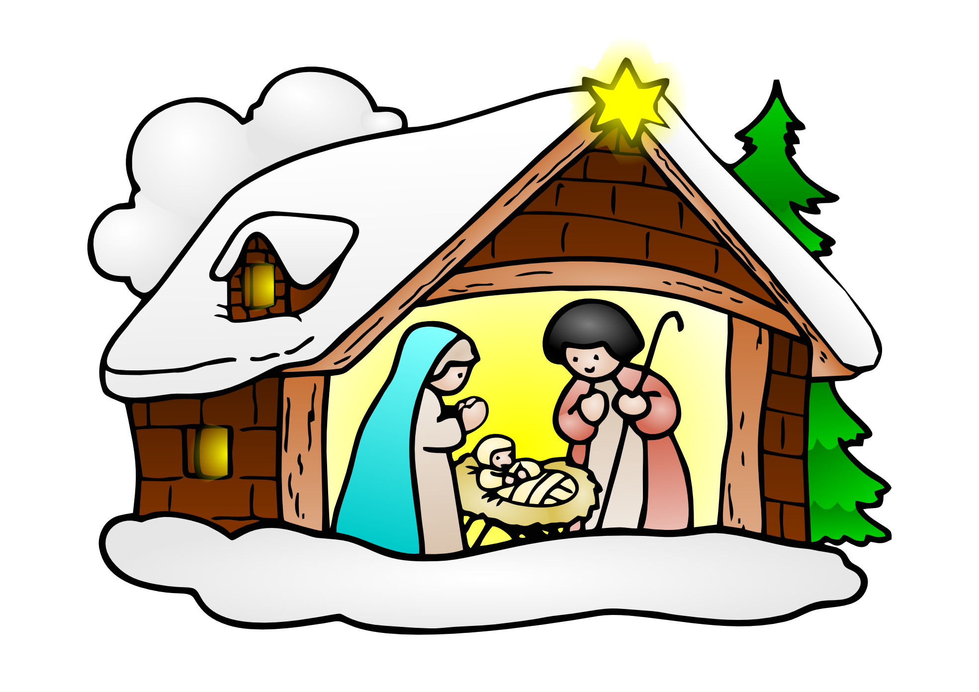 1969x1392 Free Nativity Of Jesus Christ Clip Art