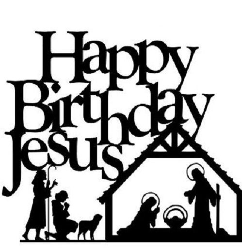 499x520 Happy Birthday Jesus Clipart