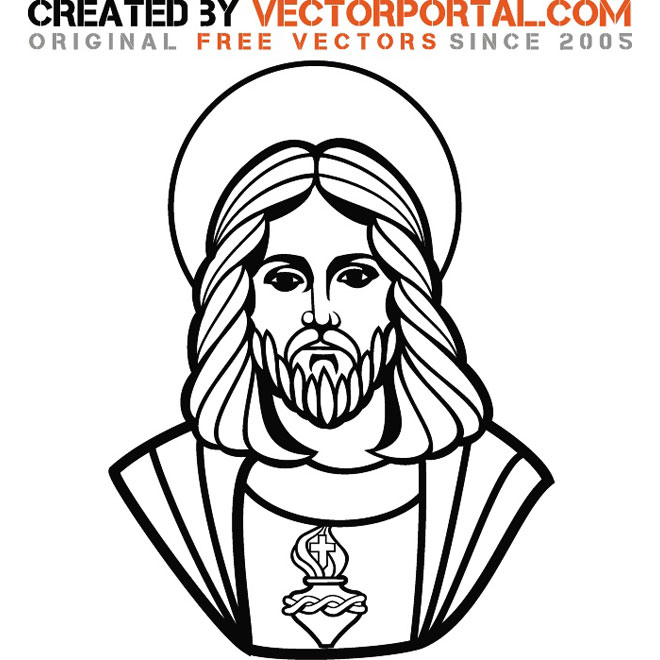 660x660 Jesus Christ Vector Graphic Art