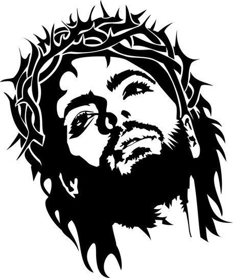 456x544 Jesus Christ Face, Clipart