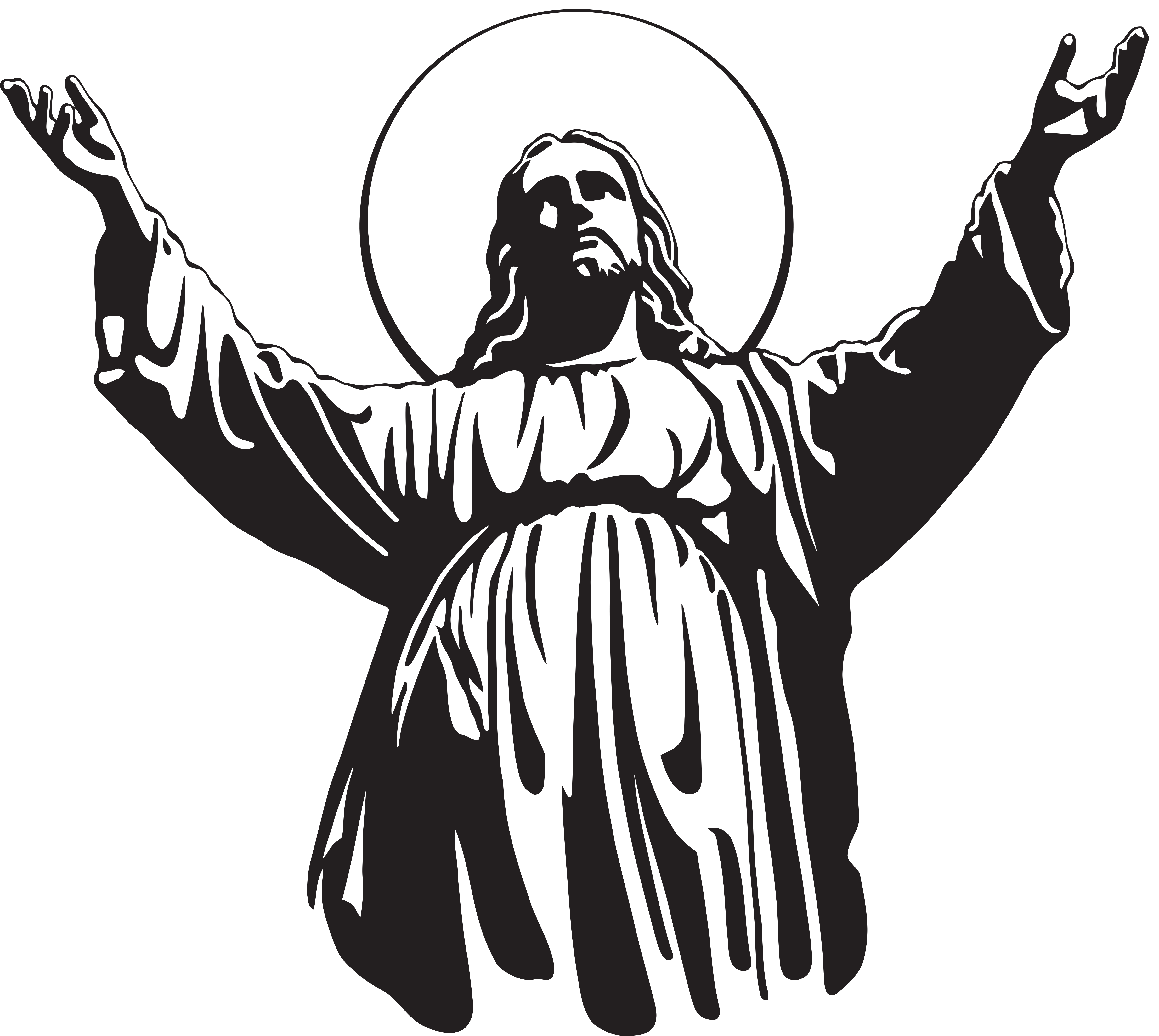 6000x5367 Jesus Christ Son Of God Png Clip Art