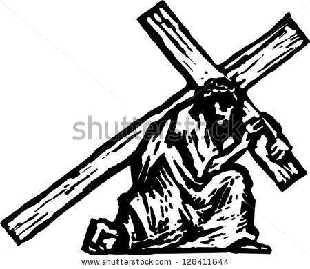 450x390 Jesus Carrying Cross Jesus Clipart, Explore Pictures