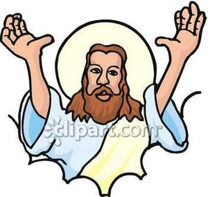 300x285 Christ Holding His Hands In The Air