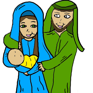 360x360 Mary And Baby Jesus Clipart Clipart Kid