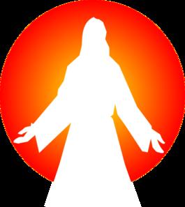 265x297 Jesus Christ With Sun Clip Art