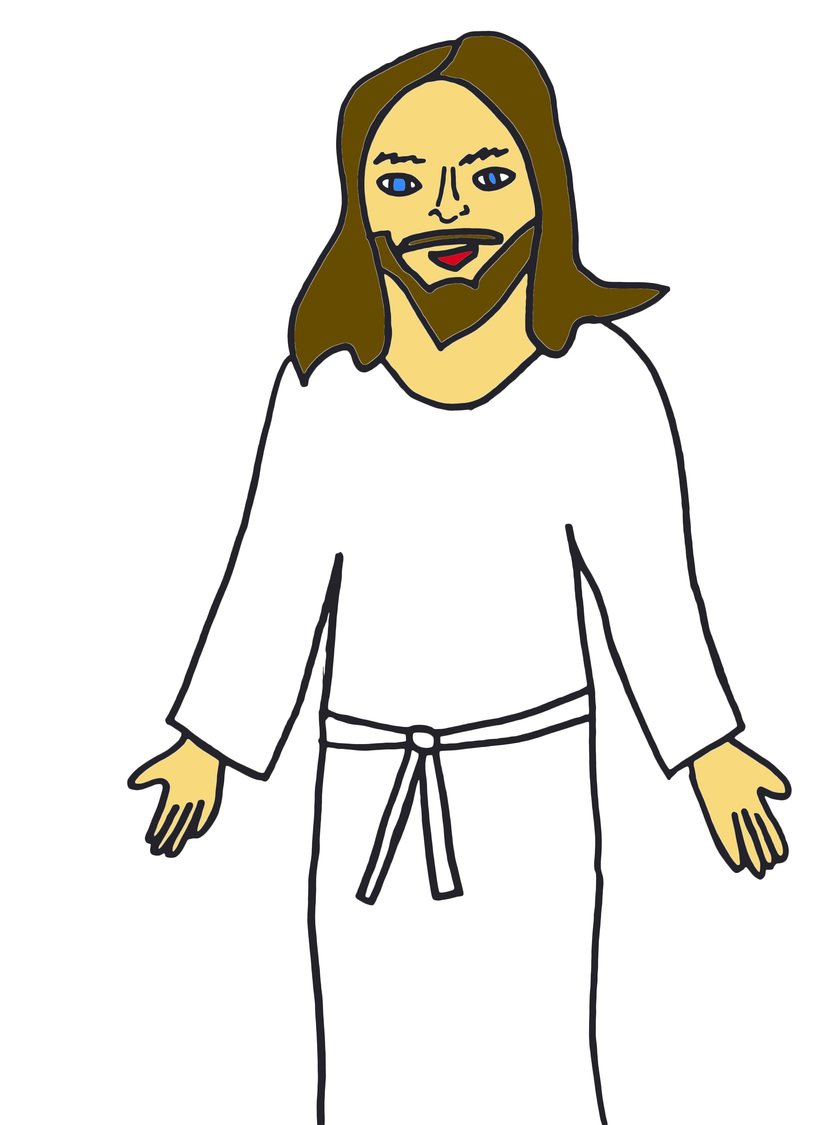 2763x3789 Jesus Clip Art Black And White Free Clipart Images 5 Clipartcow