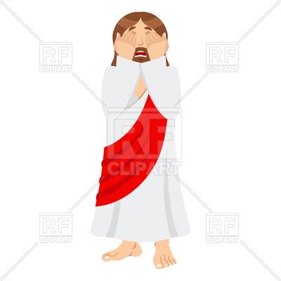 400x400 Jesus Facepalm Emotion Royalty Free Vector Clip Art Image