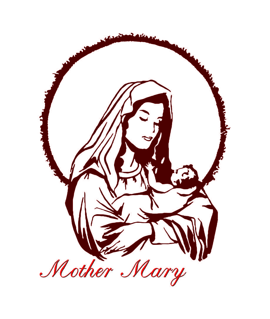 918x1084 Mary Jesus Mother Clipart