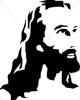 310x388 Jesus Clip Art Black And White Free Clipart Images 5