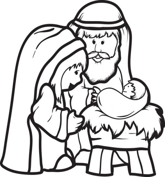 559x600 Baby Jesus Clipart Black And White 9 Nice Clip Art