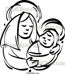 270x308 Mother Mary With Baby Jesus Clip Art