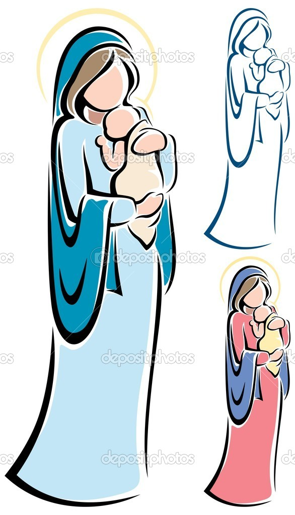 586x1024 Mary Mother Of Jesus Clipart