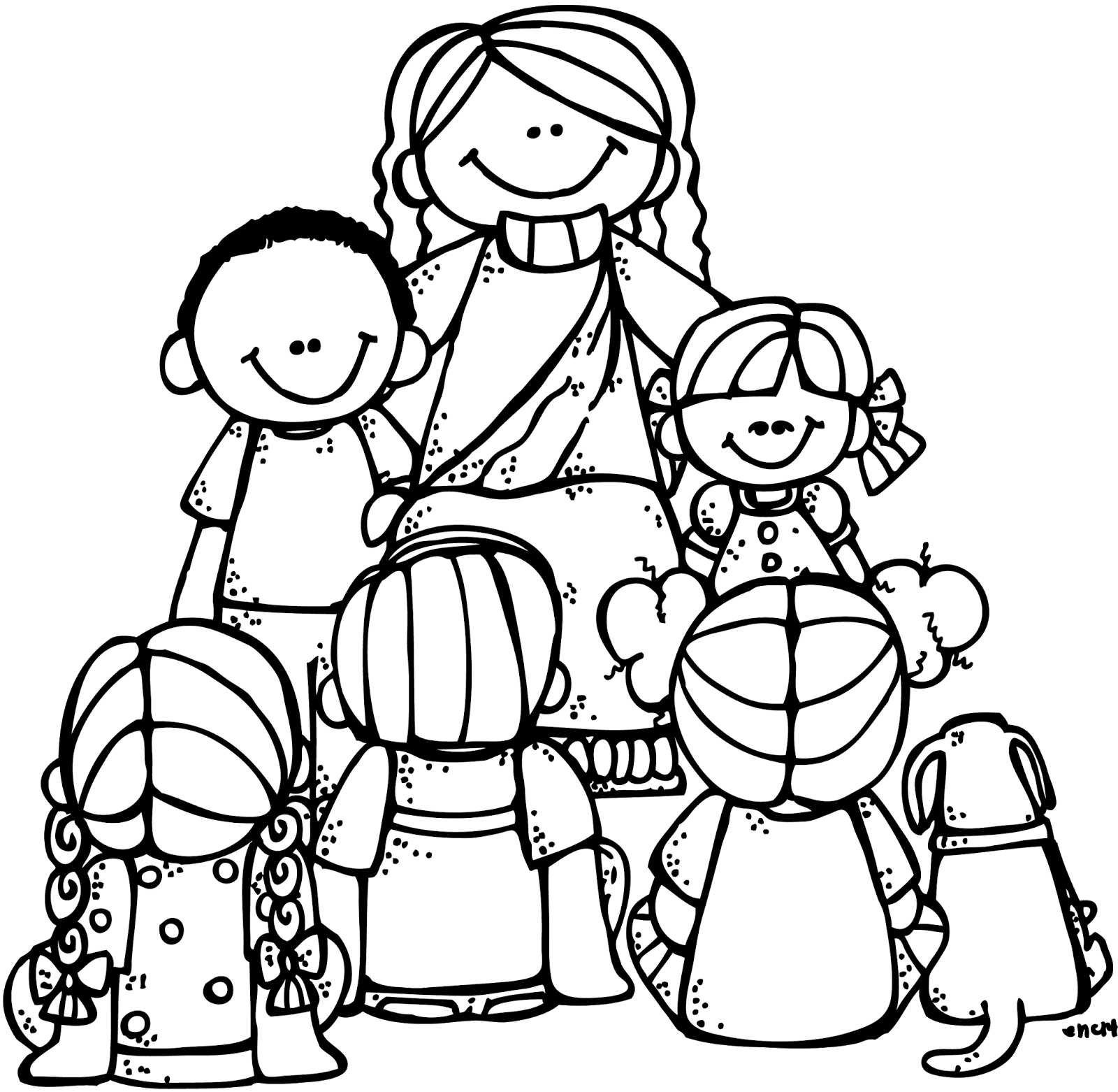 1600x1562 Free Clip Art Jesus With Children Cliparts