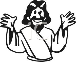 300x246 And White Jesus Clipart
