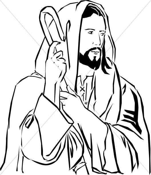 528x612 Christ The Good Shepherd Jesus Clipart