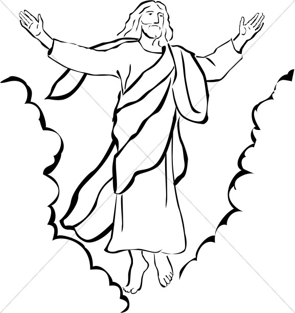 577x612 Heaven Clipart Black And White