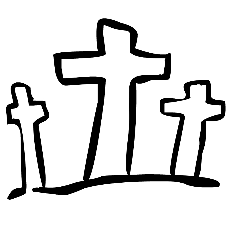 800x800 Easter Cross Clipart Black And White