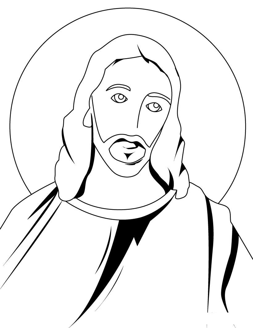 820x1060 Cartoon Drawing Of Jesus Free Printable Jesus Coloring Pages