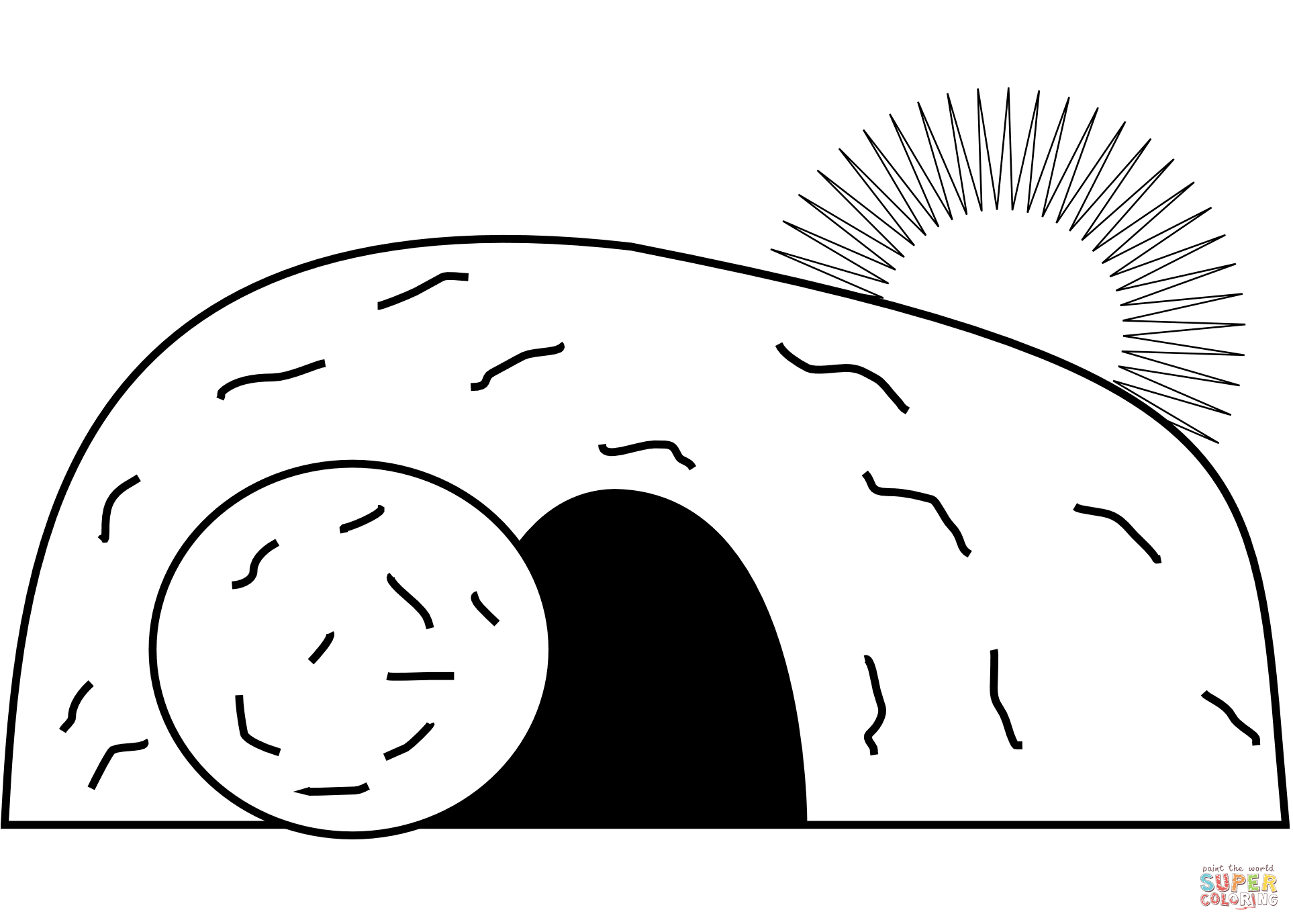 1926x1376 Jesus' Empty Tomb Coloring Page Free Printable Coloring Pages