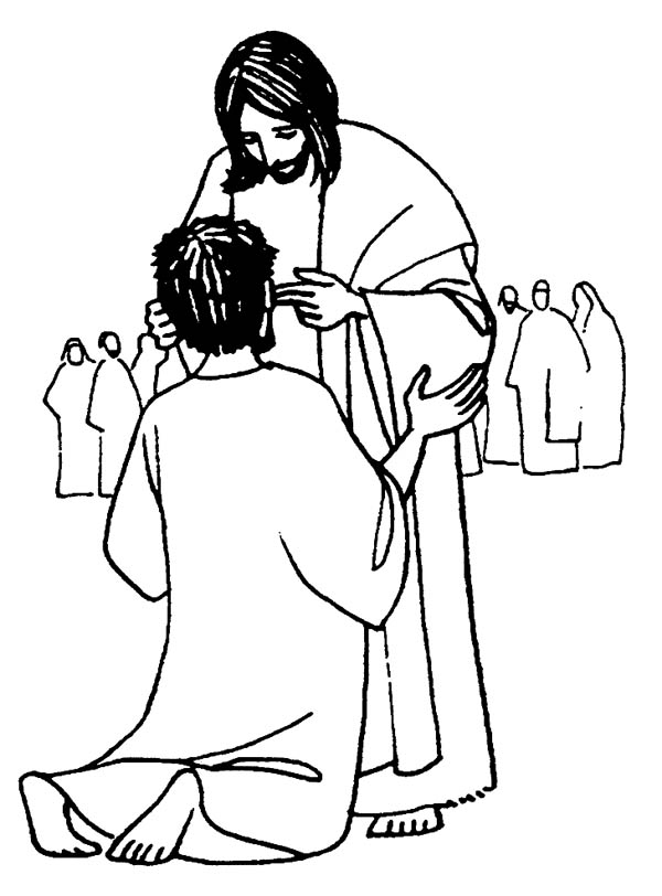 jesus caring coloring pages - photo#6