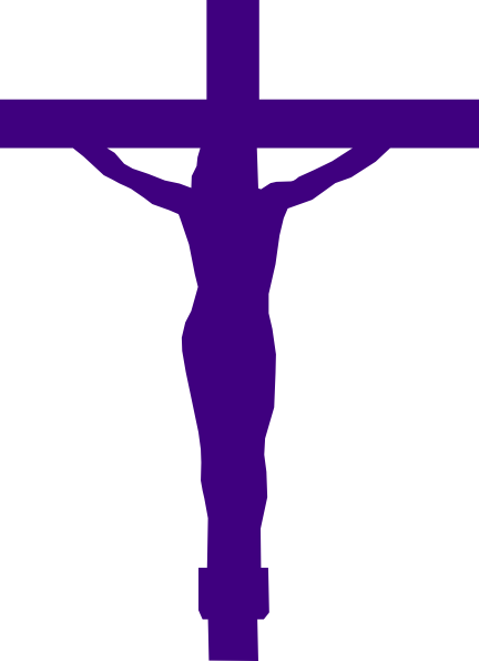 432x596 Jesus Christ On Cross Purple Clip Art