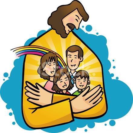 440x440 Jesus Love My Family (Vector) Stock Vector