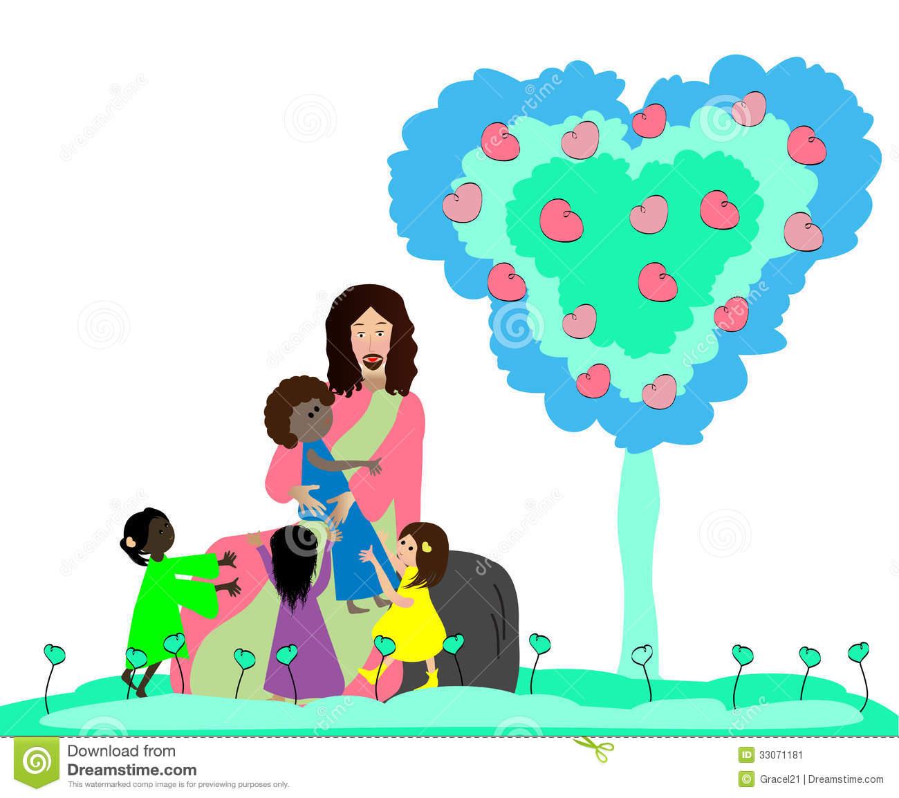 1300x1154 Jesus Loves Children Clipart