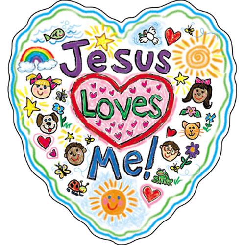 500x500 Jesus Loves Me Clipart