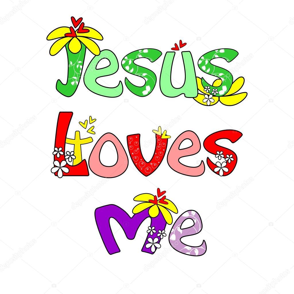 1024x1024 Jesus Loves Me Stock Vector Gracel1221