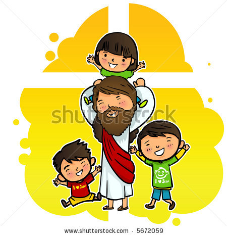 450x467 Kids With Jesus Clipart
