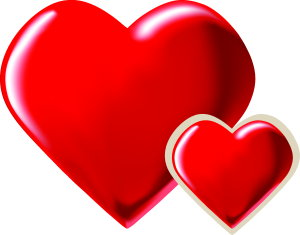 300x235 Love Heart Clipart