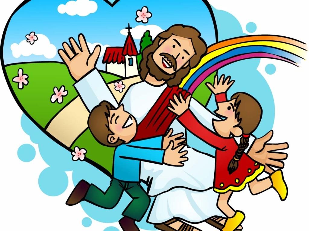 1024x768 Top 86 Jesus Children Clip Art