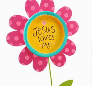 299x280 Jesus Loves Me Flower Stake Luke 12, Layering And Flower