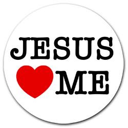 250x250 Jesus Loves Me Magnetic Tax Disc Holder