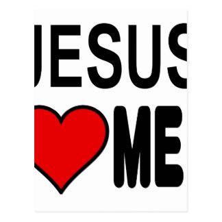 324x324 Jesus Loves Me Postcards Zazzle